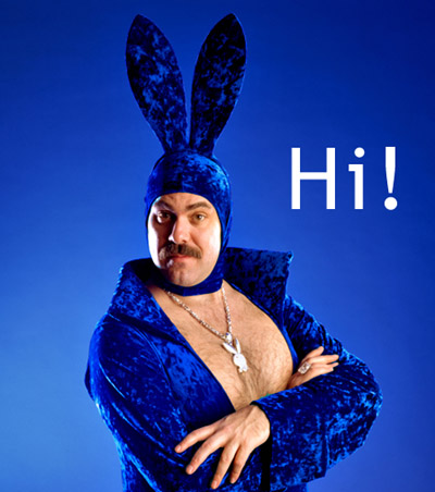 big-gay-guy-in-a-blue-valure-bunny- (Classy Dr. Douchebag!)