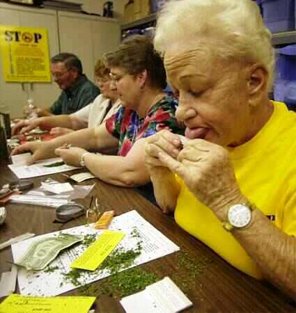 Image result for old people smoking weed