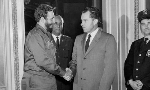 ¿Cuánto mide Richard Nixon? - Altura - Real height Nixon-y-castro
