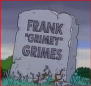 Frank Grimes tombstone
