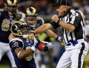 NFL ref punch