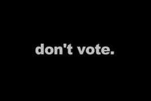 Don't vote ad