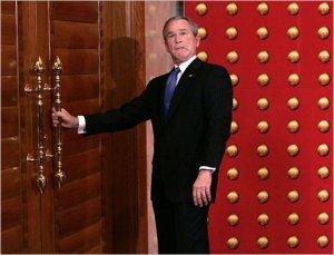 W. Bush wrong door asshole