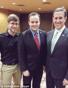 Josh with Rick Santorum