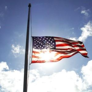 Us Flag half mast