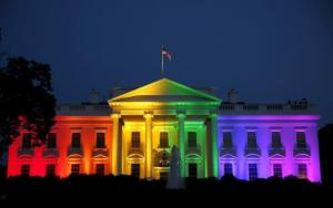 White House in flag colors