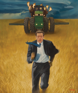 Brownback being chased