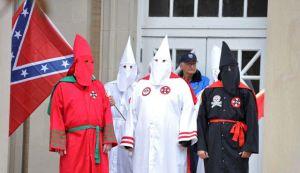 KKK racist flags
