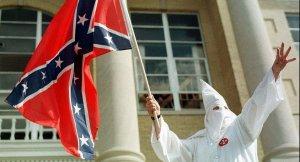 KKK with Confederate flag