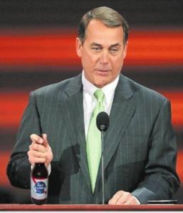 Boehner drinking
