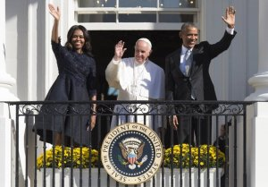 Pope with Obama & Michelle