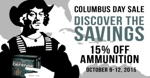 Columbus day ammo sale