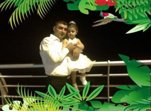 Hero father with daughter