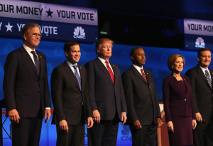 Republican field on stage