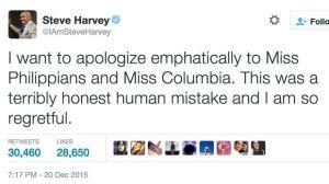 Harvey's twitter