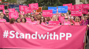 PP protesting marching
