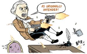 Gun nut cartoon