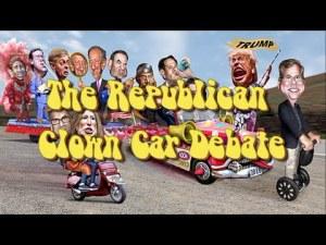 Republican debate clown cars