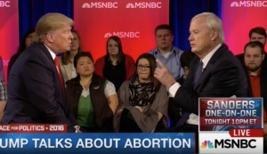 Trump talks abortion with Matthews