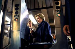 Clinton can't ride Subway