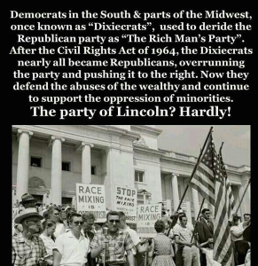 Republican Dixiecrat shift