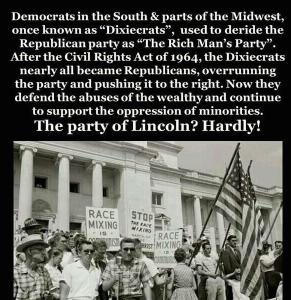 Republican Dixiecrat shift