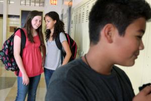 High School Hallway idiots