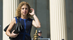 Representative Wasserman Schultz  and Chair of the Democratic National Committee leaves the U.S. Capitol