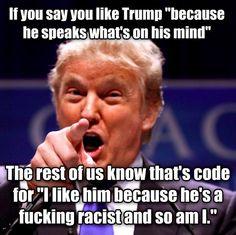 Racist trump lying moron
