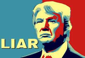 Trump the mega asshole liar pic