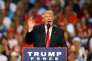Republican Presidential Candidate Donald Trump Holds Rally In Daytona Beach, Florida
