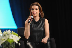 NEW YORK, NY - OCTOBER 17: Venezuelan actress Alicia Machado speaks on stage at Festival PEOPLE En Espanol 2015 presented by Verizon at Jacob Javitz Center on October 17, 2015 in New York City. (Photo by Brad Barket/Getty Images for PEOPLE En Espanol)