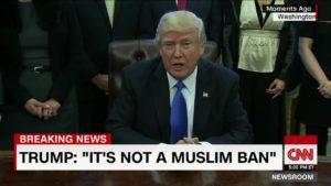 "Trump ""It's not a Muslim Ban"""