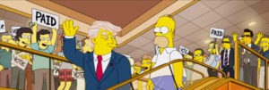 Trump Simpsons paid idiots