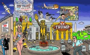 Trump cartoon White house brilliant