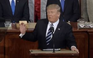 Trump is moving his Muslini hands